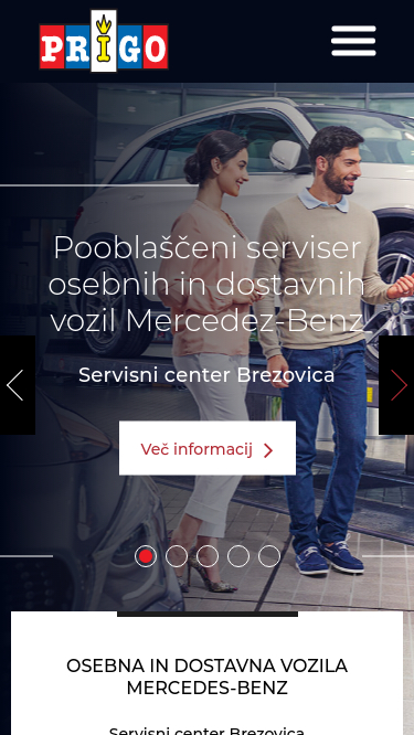 Prigo Mercedes-Benz screan